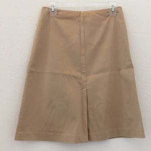 2/$15 Frontal slit khaki stretch skirt The Limited